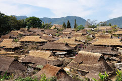 Yunnan Lincang village building Stock Image