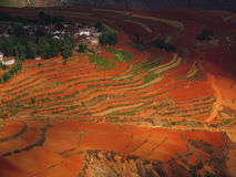 Yunnan red soil dry Royalty Free Stock Photos