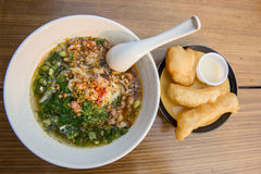 Yunnan rice noodle soup with deep-fried doughstick Royalty Free Stock Photo