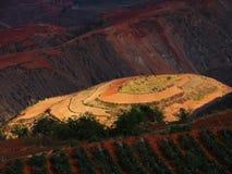 Yunnan-roter Boden trocken Stockbild