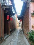 Yunnan Shuhe Chinese traditional Ancient Town of Chinese Style royalty free stock photo