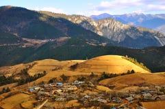 Yunnan village. A village in the mountain of yunnan stock image