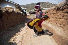 Κίνα, μικρό κορίτσι Yunnan Yi Στοκ φωτογραφία με δικαίωμα ελεύθερης χρήσης