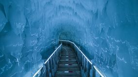 Yunqiushan Ice Cave Group. Is located in Xiangning County, Shanxi Province, China. It was produced in the fourth season of the glaciers. It has a history of stock photo