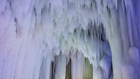 Yunqiushan Ice Cave Group. Is located in Xiangning County, Shanxi Province, China. It was produced in the fourth season of the glaciers. It has a history of stock photos