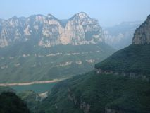 Yuntai Mountain. Scenery in Henan province Stock Photos