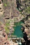 Yuntai Redstone wąwozu Halny krajobraz obraz royalty free