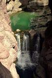 Yuntai Redstone wąwozu Halny krajobraz Obraz Stock