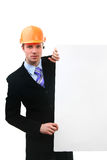 Yuong construction worker Stock Photo