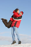 Yuong couple have fun Royalty Free Stock Photo