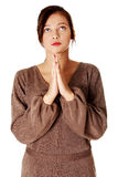 Yuong girl praying. Stock Photography