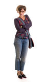Yuppie girl standing 1 Royalty Free Stock Photo
