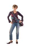 Yuppie girl standing 2 Royalty Free Stock Image