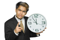 Yuppie warning for deadline Stock Images