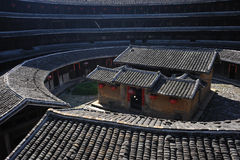 Yuqing floor. Fujian tulou construction architecture landmarks travel historic buildings life live hakka fun royalty free stock photography