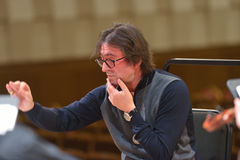 Yuri Bashmet op de repetitie Royalty-vrije Stock Foto