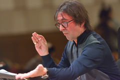 Yuri Bashmet op de repetitie Stock Afbeelding