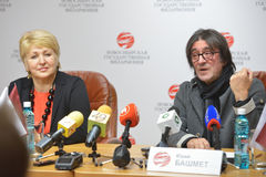Yuri Bashmet on the press conference Stock Photo