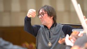 Yuri Bashmet on the rehearsal stock video footage