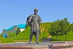 Yuri Dolgorukiy. MARCH 14, 2015, DMITROV, MOSCOW AREA, RUSSIA - Monument of Yuri Dolgorukiy close to Dmitrov kremlin. Velikiy Kniaz Yuri Dolgorukiy (1090-1157) Stock Photos