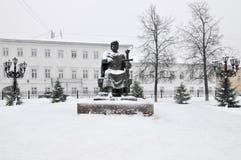 Yuri Dolgorukiy Monument - Kostroma, Russia. Yuri Dolgorukiy Monument in Kostroma, Russia in the winter Stock Images
