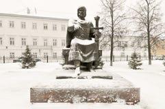 Yuri Dolgorukiy Monument - Kostroma, Russia. Yuri Dolgorukiy Monument in Kostroma, Russia in the winter Royalty Free Stock Photo