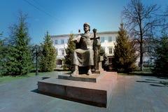 Yuri Dolgoruky in Kostroma. The monument to Russian Prince Yuri Dolgoruky in Kostroma Royalty Free Stock Photo