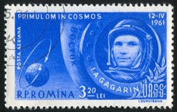 Yuri Gagarin. ROMANIA - CIRCA 1961: stamp printed by Romania, show Yuri Gagarin, circa 1961 Stock Photography