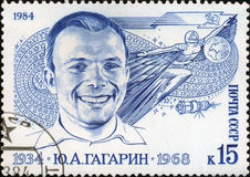 Yuri Gagarin the first man-astronaut Royalty Free Stock Images