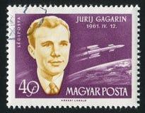 Yuri Gagarin. HUNGARY - CIRCA 1963: stamp printed by Hungary, shows Yuri Gagarin, circa 1963 Royalty Free Stock Images