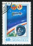 Yuri Gagarin. MONGOLIA - CIRCA 1981: stamp printed by Mongolia, shows Vostok I, Yuri Gagarin, circa 1981 Royalty Free Stock Photo
