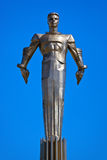 Yuri Gagarin monument - Moskva Ryssland Royaltyfria Bilder