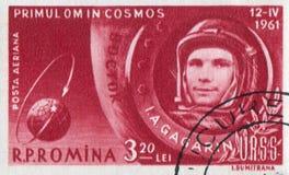 Yuri Gagarin. ROMANIA - CIRCA 1961: stamp printed by Romania, show Yuri Gagarin, circa 1961 Royalty Free Stock Images