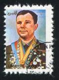 Yuri Gagarin. UMM AL-QUWAIN - CIRCA 1972: stamp printed by Umm al-Quwain, shows Yuri Gagarin, circa 1972 Stock Photo