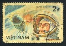 Yuri Gagarin. VIETNAM - CIRCA  1986: stamp printed by Vietnam, shows Yuri Gagarin, circa 1986 Royalty Free Stock Photography