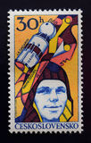 Yuri Gagarin Vintage Stamp 1961 Royalty Free Stock Photo
