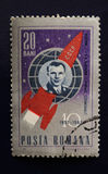 Yuri Gagarin Vintage Stamp 1961 Stock Photography