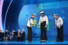 Yuri Galtsev agisce al concerto di anniversario di Piecha Fotografia Stock