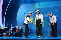 Yuri Galtsev atua no concerto do aniversário de Piecha Fotografia de Stock