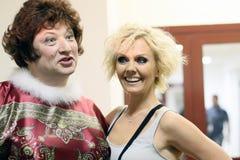 Yuri Galtsev and Valeria in Crocus City Hall Royalty Free Stock Photos