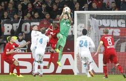 Yuri Lodygin Bayer 04 Leverkusen v Zénith Saint-Pétersbourg Champion League Royalty Free Stock Photography