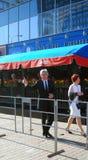 Yuri Nikolaev au festival de film de Moscou Image libre de droits