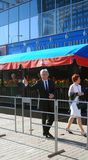 Yuri Nikolaev en el festival de película de Moscú Imagen de archivo libre de regalías