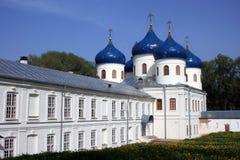 Yuriev kloster novgorod Ryssland Fotografering för Bildbyråer