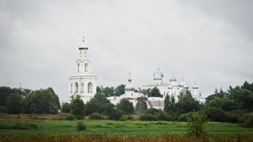 Yuriev monastery in Great Novgorod Royalty Free Stock Photo
