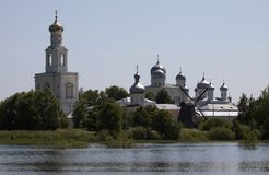 Yuriev Monastery in Novgorod the Great, Russia Royalty Free Stock Photos