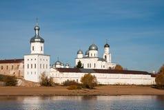 Yuriev monastery, Novgorod Veliky, Russia Stock Images