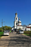 Yuriev  Monastery in Veliky Novgorod, Russia Stock Photography
