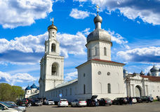 Yuriev  Monastery in Veliky Novgorod, Russia Royalty Free Stock Photo
