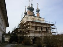 Yuriev Polsky, Russia, Mikhailo-Arkhangelsky monastery, cold spring. Yuriev Polsky, Russia, Mikhailo-Arkhangelsky monastery cold spring stock images